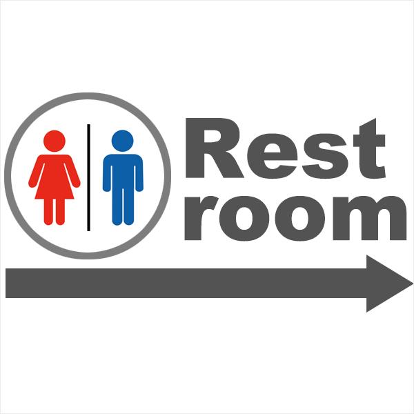 LEDプロジェクターロゴライト・ゴボライト入稿デザイン例 restroom案内