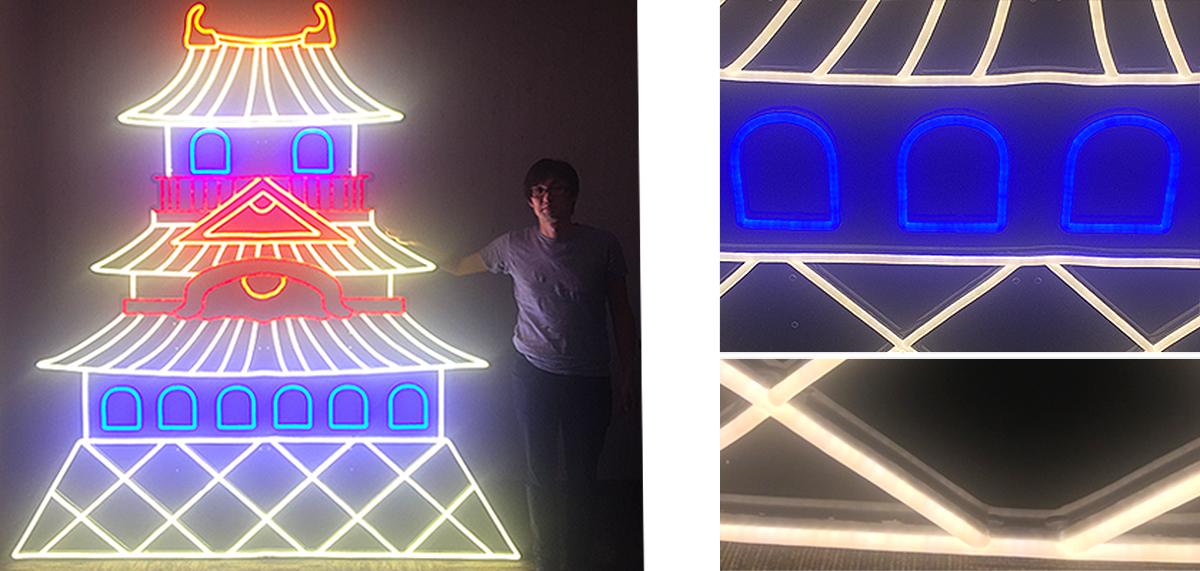 LEDネオン看板(ネオンサイン)制作販売の実績「温泉ホテル天成園」様